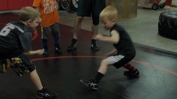 Alec wrestling